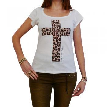 CRUCIFIX: WOMEN'S T-SHIRT SHORT-SLEEVE CELEBRITY ONE IN THE CITY 7015268