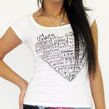 HEART :WOMEN'S T-SHIRT SHORT-SLEEVE ONE IN THE CITY 7015102